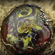 """Украшения ручной работы. Ярмарка Мастеров - ручная работа """"Глаз феникса"""" лэмпворк брошь. Handmade."""