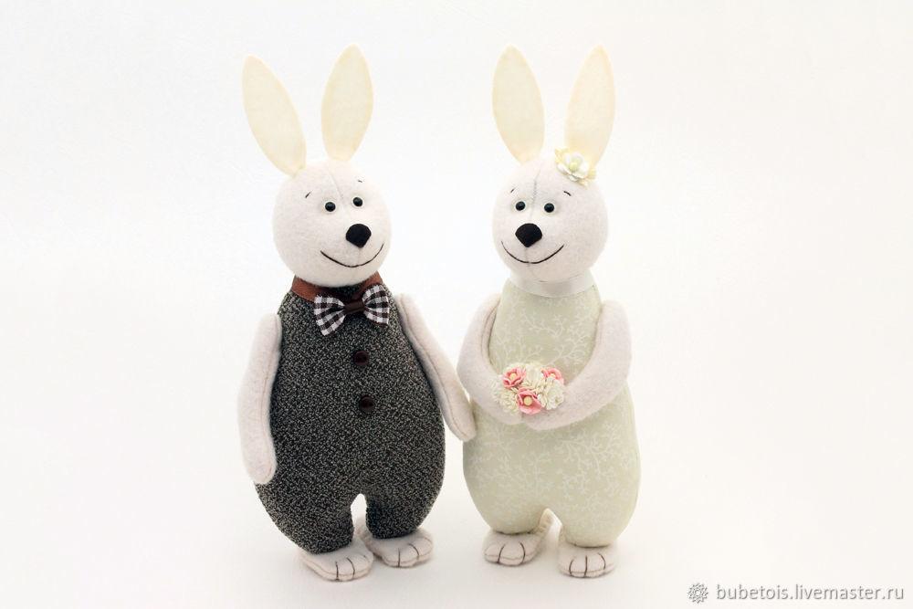 Свадебные Зайцы, кролики и зайчики подарок на свадьбу, кофе с молоком, Подарки, Москва,  Фото №1