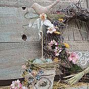 Подарки к праздникам ручной работы. Ярмарка Мастеров - ручная работа Подарок  на Пасху  Птичка с гнездом  композиция к Пасхе с. Handmade.