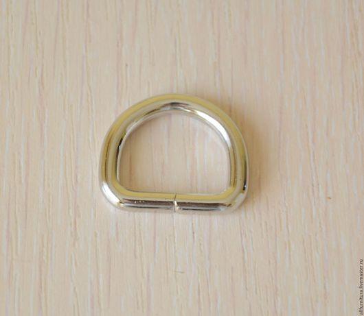 Шитье ручной работы. Ярмарка Мастеров - ручная работа. Купить Полукольцо 20 х 15 мм (4мм) никель. Handmade.