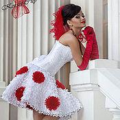 """Одежда ручной работы. Ярмарка Мастеров - ручная работа Юбка """"Любовный романс (свадебная)"""" украшеная красными розами. Handmade."""