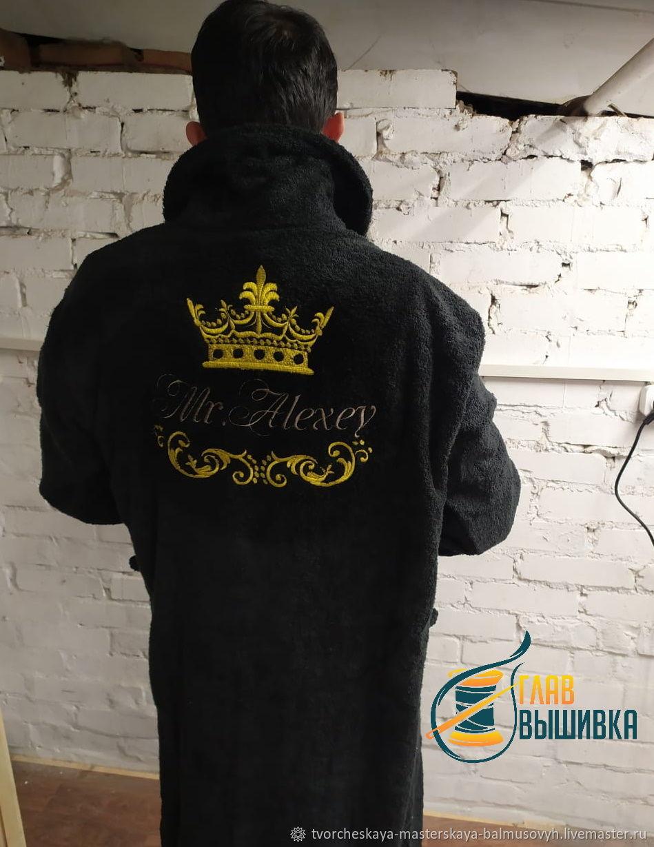 Махровый халат с именной вышивкой на заказ, Халаты, Ростов-на-Дону,  Фото №1