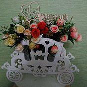 Вазы ручной работы. Ярмарка Мастеров - ручная работа Корзина-подставка  для цветов. Handmade.