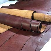 Кожа ручной работы. Ярмарка Мастеров - ручная работа Кожа: Vacchetta. 1,2-1,4 мм. Виски. Италия. Handmade.