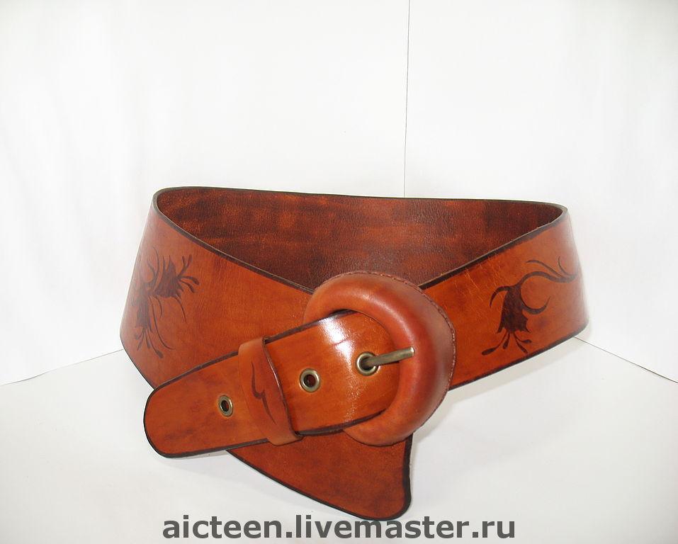 Ремень женский широкий с пряжкой кожаный ремень купить в астане