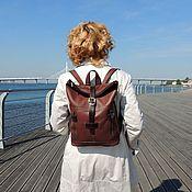 Сумки и аксессуары handmade. Livemaster - original item Backpacks: Backpack brown leather ladies Wenling Mod P31-722-1. Handmade.