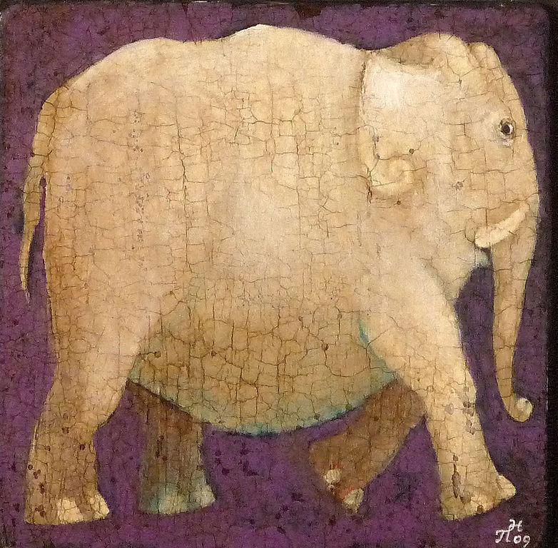 """""""Белый слон"""", авторская печать, Картины, Новороссийск,  Фото №1"""
