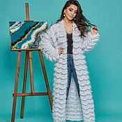 Одежда handmade. Livemaster - original item Blue Women`s Coat. Handmade.
