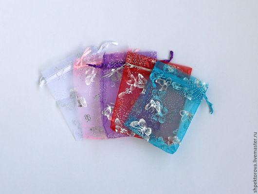 Упаковка ручной работы. Ярмарка Мастеров - ручная работа. Купить Подарочные мешочки из органзы 9х12см. Handmade. Разноцветный, упаковка для подарков