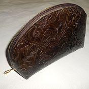 Сумки и аксессуары handmade. Livemaster - original item Cosmetic bag Italian leather. Handmade.