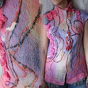 """Одежда ручной работы. Ярмарка Мастеров - ручная работа Жилет валяный """"Актриса весна"""". Handmade."""