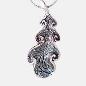 Украшения ручной работы. Ярмарка Мастеров - ручная работа Дубовый Лист кулон из серебра. Handmade.