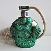 Винтаж handmade. Livemaster - original item 1930s Malachite Glass Perfume Bottle Czechoslovakia Art Deco. Handmade.