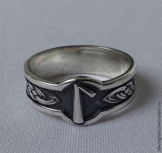 Кольцо с Руной Лагуз из серебра с черением 4-6 грамм -1100руб. Под заказ 5дн.;