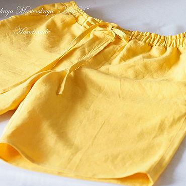 Одежда ручной работы. Ярмарка Мастеров - ручная работа Мужские шорты из 100% льна Солнечный берег. Handmade.