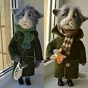Куклы и игрушки ручной работы. Ярмарка Мастеров - ручная работа кот рыбак. Handmade.