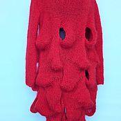 Одежда ручной работы. Ярмарка Мастеров - ручная работа Вязаное платье с волнами. Handmade.