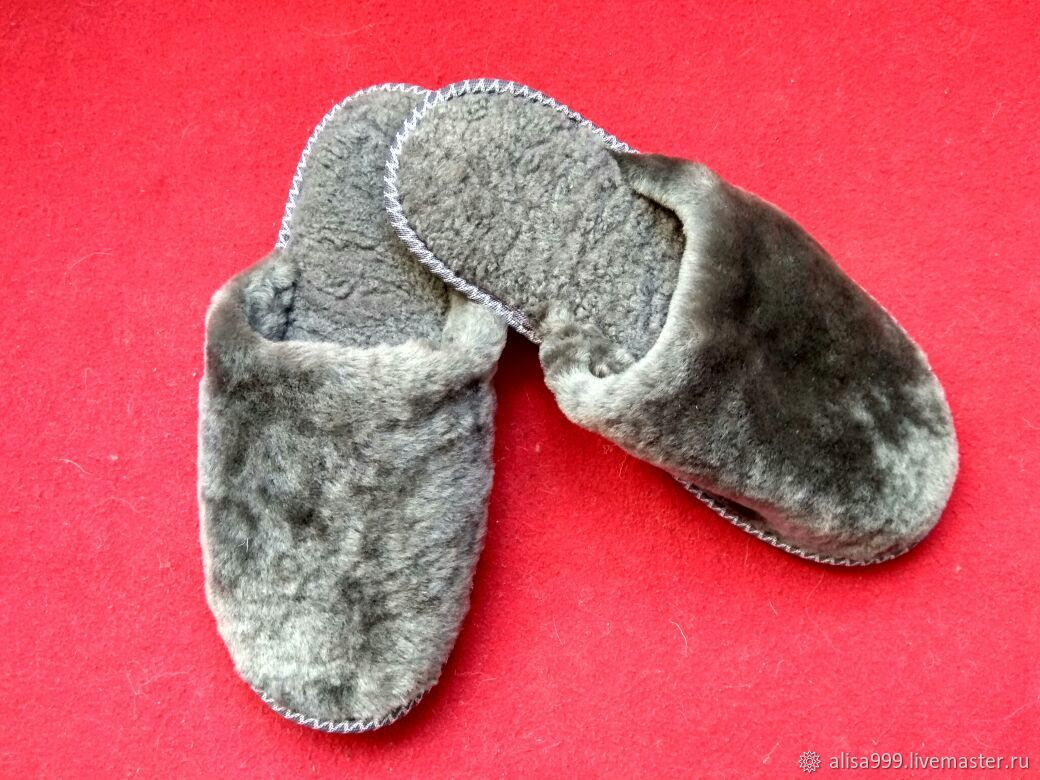 Sheepskin Slippers 38 closed Cape, Slippers, Moscow,  Фото №1
