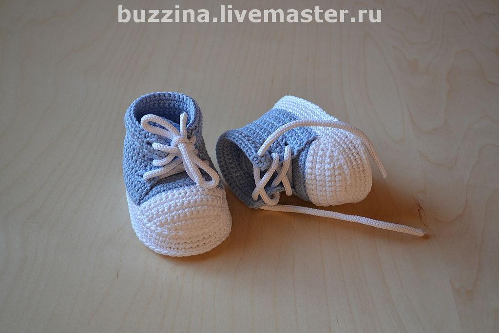 Вязание для новорожденных кеды