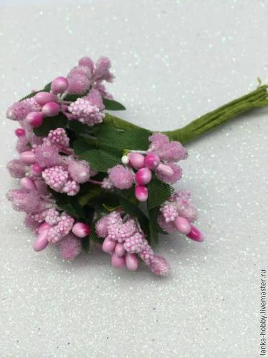 Букетики тычинок цвет: нежно-розовый (pink)  Цена указана за букетик из 12 веточек  В упаковке 12 веточек (как на фото)