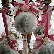 Подарки к праздникам ручной работы. Ярмарка Мастеров - ручная работа Деревянные Рождественские  шары. Handmade.