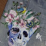 handmade. Livemaster - original item Jeans with hand-painted