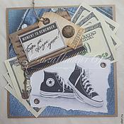 Открытки ручной работы. Ярмарка Мастеров - ручная работа открытка для друга. Handmade.