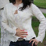 """Одежда ручной работы. Ярмарка Мастеров - ручная работа Жакет """" Белый Ажур"""". Handmade."""