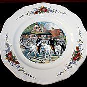 Винтаж handmade. Livemaster - original item Serving dish, SARREGUEMINES, Obernai, France. Handmade.