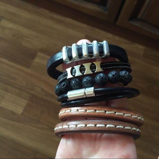 Браслеты ручной работы. Ярмарка Мастеров - ручная работа. Купить Мужские браслеты в ассортименте. Handmade. Кожанный браслет, мужской