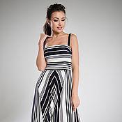 Одежда handmade. Livemaster - original item Striped MIDI dress. Handmade.