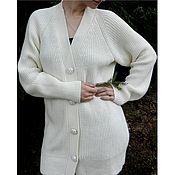 Одежда handmade. Livemaster - original item Cardigan knitted pearl elastic band. Handmade.