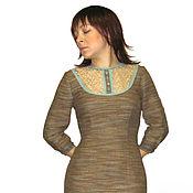 Одежда ручной работы. Ярмарка Мастеров - ручная работа Платье футляр с кружевом. Handmade.