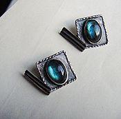 "Cuff Links handmade. Livemaster - original item Copy of Cufflinks unisex ""Intelligent person"" of silver. Handmade."