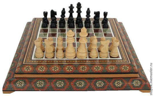 Настольные игры ручной работы. Ярмарка Мастеров - ручная работа. Купить Шахматы Восток  5869. Handmade. Чёрно-белый, шахматы