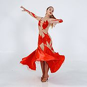 97cc8feb7a6 Ballroom dress RED SPLASH – shop online on Livemaster with shipping ...