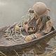 """Коллекционные куклы ручной работы. Ярмарка Мастеров - ручная работа. Купить Кукла-образ """"рыбачка"""". Handmade. Рыбалка, река, хлопок"""