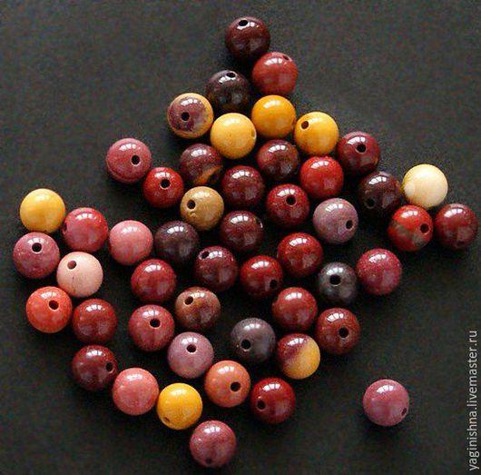Для украшений ручной работы. Ярмарка Мастеров - ручная работа. Купить Яшма мукаит, бусины, мелкие бусины 6 мм. Handmade.