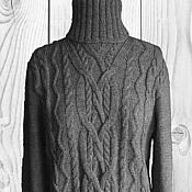 """Одежда ручной работы. Ярмарка Мастеров - ручная работа Свитер вязаный  """"Серые араны"""" женский. Handmade."""