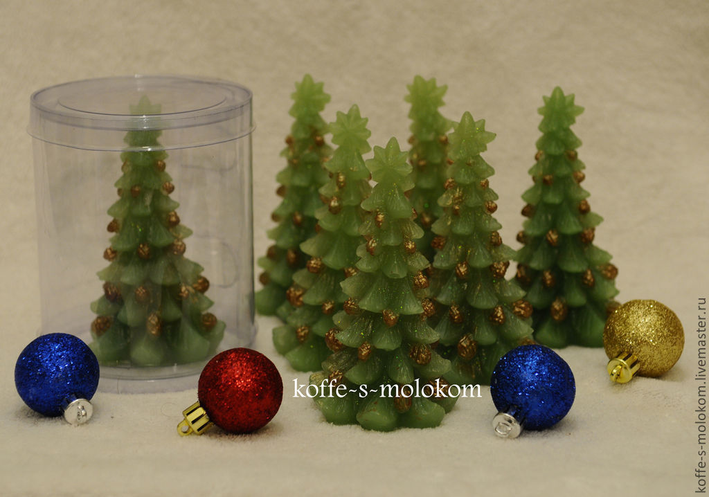 Silicone molds for soap Christmas tree with pine cones, Form, Moscow,  Фото №1