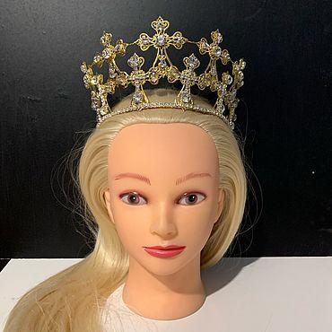 Украшения ручной работы. Ярмарка Мастеров - ручная работа Золотая корона с крестами для Хэллоуина. Handmade.