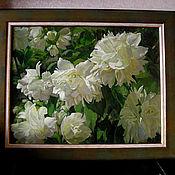 Картины и панно ручной работы. Ярмарка Мастеров - ручная работа Цветы жасмина. Handmade.