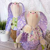Куклы и игрушки ручной работы. Ярмарка Мастеров - ручная работа Лавандовая парочка зайцев. Handmade.