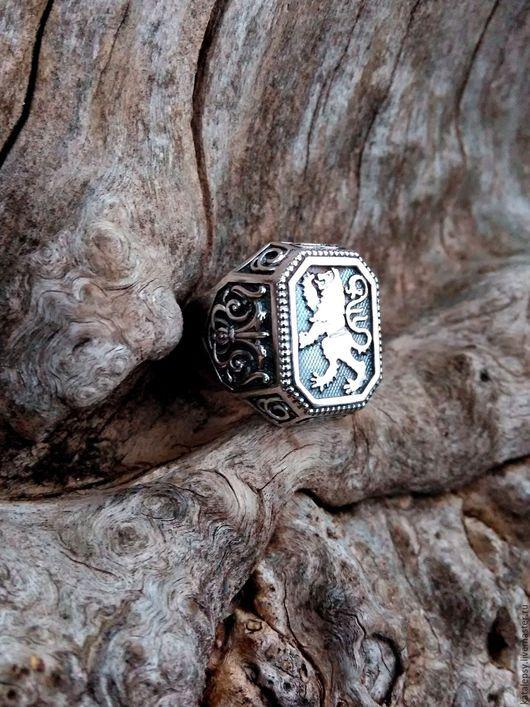 Кольца ручной работы. Ярмарка Мастеров - ручная работа. Купить Кольцо со львом в старинном стиле.. Handmade. Серебряный
