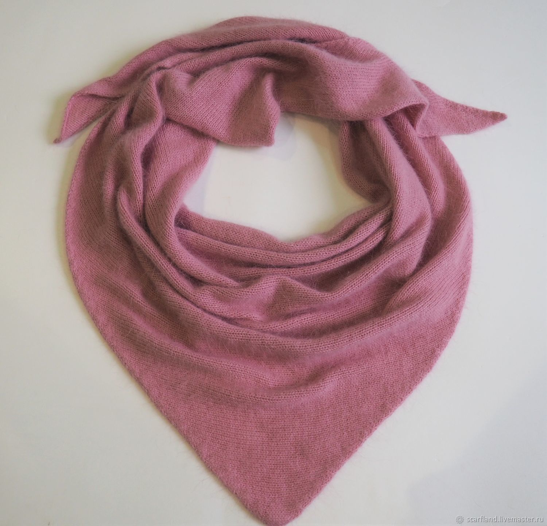 scarves: Knitted scarf from mink/Angora, Kerchiefs, Cheboksary,  Фото №1