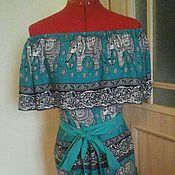 Одежда ручной работы. Ярмарка Мастеров - ручная работа Летнее платье  из  штапеля. Handmade.