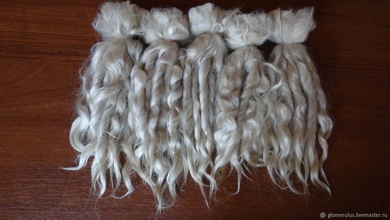 Уценка! Волосы.Недорогие кудри,локоны,волосы для кукол-  козья шерсть, Волосы для кукол, Волгоград,  Фото №1