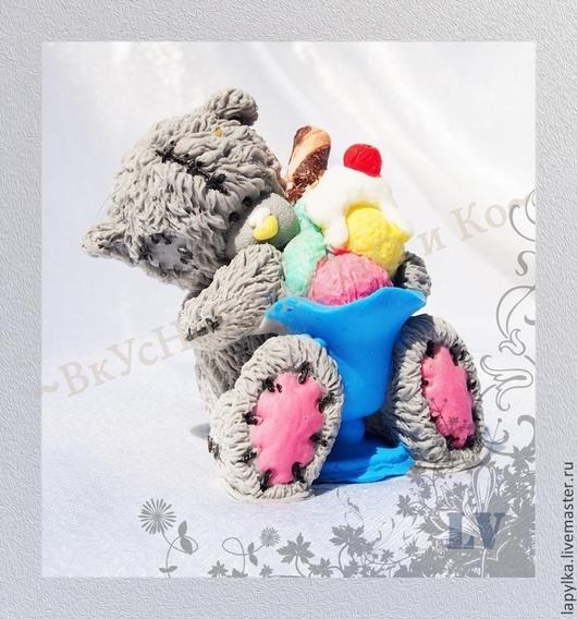 """Мыло ручной работы. Ярмарка Мастеров - ручная работа. Купить Мыло для рук """"Тедди с мороженым"""". Handmade. Мороженое, мишка тедди"""
