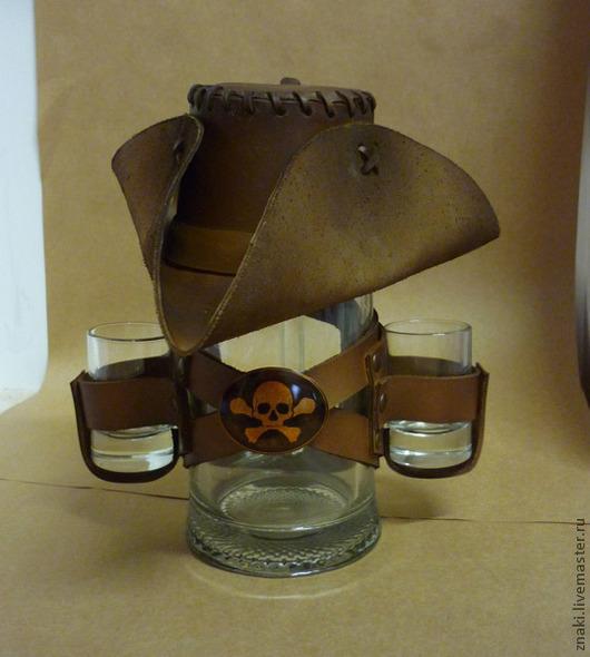 """Подарки для мужчин, ручной работы. Ярмарка Мастеров - ручная работа. Купить Пивная кружка """"Пират"""". Handmade. Коричневый, кружка"""