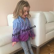 Работы для детей, handmade. Livemaster - original item children`s cardigan with gradient. Handmade.